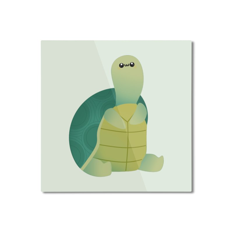 Turtle Home Mounted Aluminum Print by theladyernestember's Artist Shop
