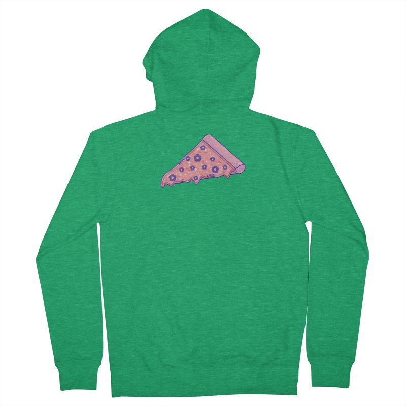 Pizza Men's Zip-Up Hoody by theladyernestember's Artist Shop