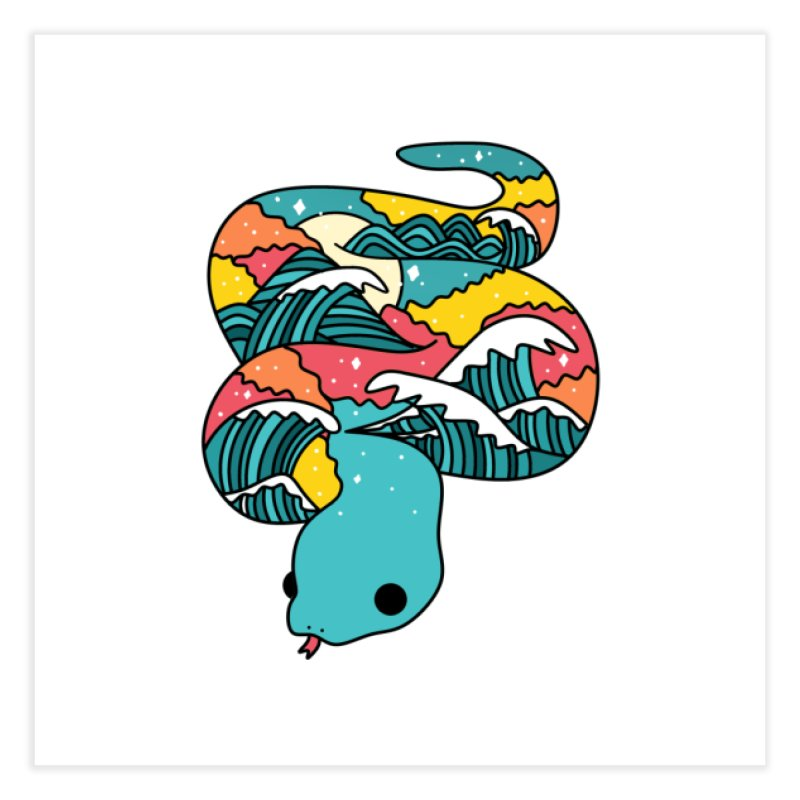 Snake Home Fine Art Print by theladyernestember's Artist Shop