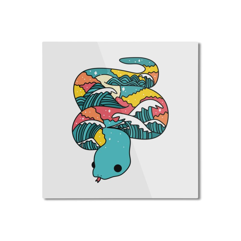 Snake Home Mounted Aluminum Print by theladyernestember's Artist Shop