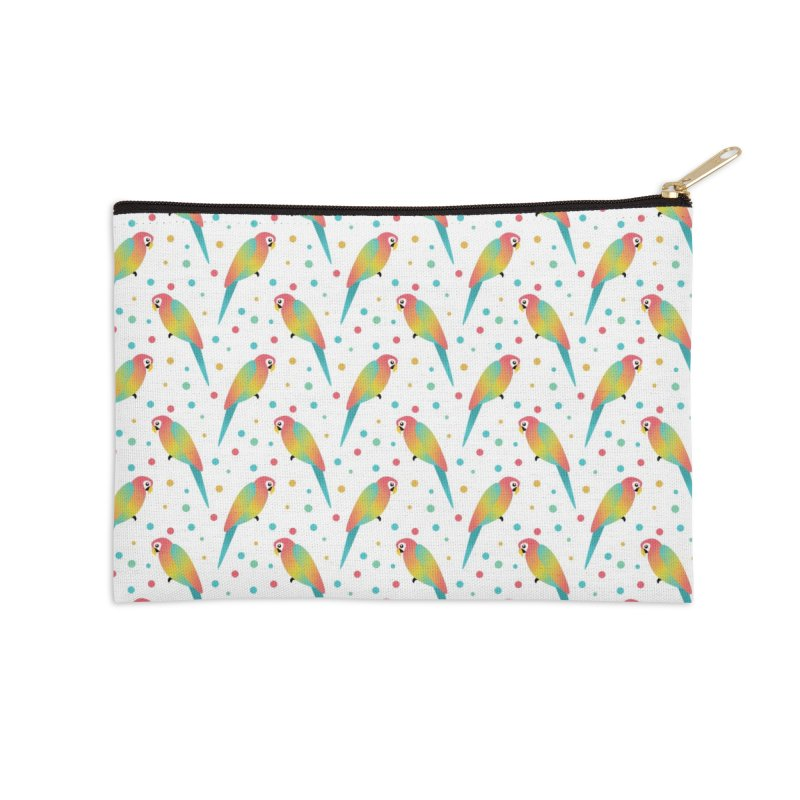 Parrot Accessories Zip Pouch by theladyernestember's Artist Shop