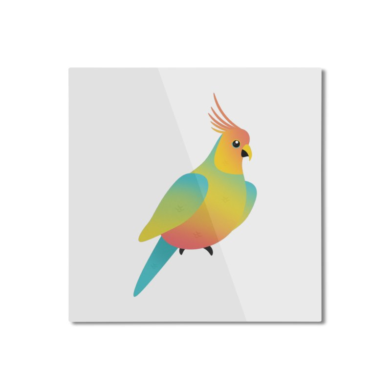 Parrot Home Mounted Aluminum Print by theladyernestember's Artist Shop