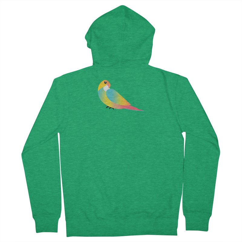 Parrot Men's Zip-Up Hoody by theladyernestember's Artist Shop