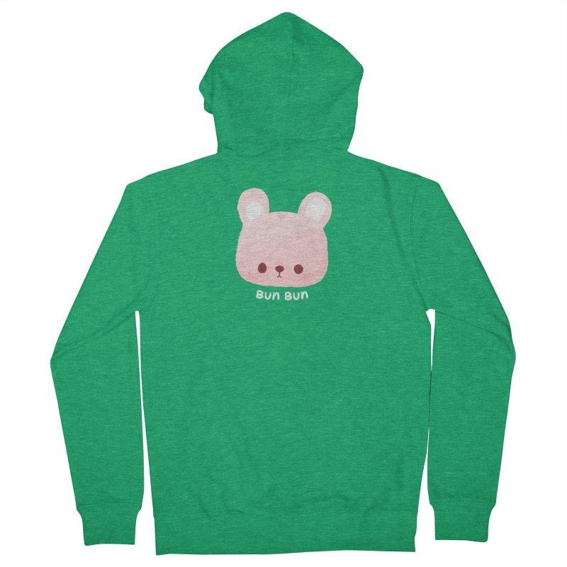 Bunny Men's Zip-Up Hoody by theladyernestember's Artist Shop