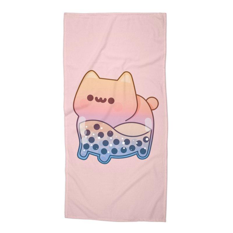 Cat Accessories Beach Towel by theladyernestember's Artist Shop