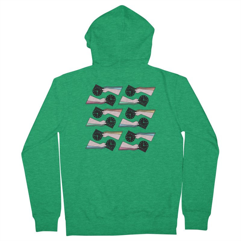THE PATTERN - TIME Men's Zip-Up Hoody by theladyernestember's Artist Shop