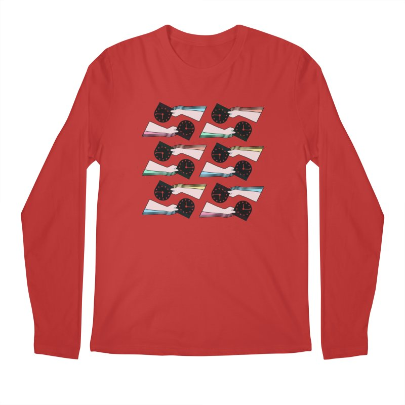 THE PATTERN - TIME Men's Longsleeve T-Shirt by theladyernestember's Artist Shop