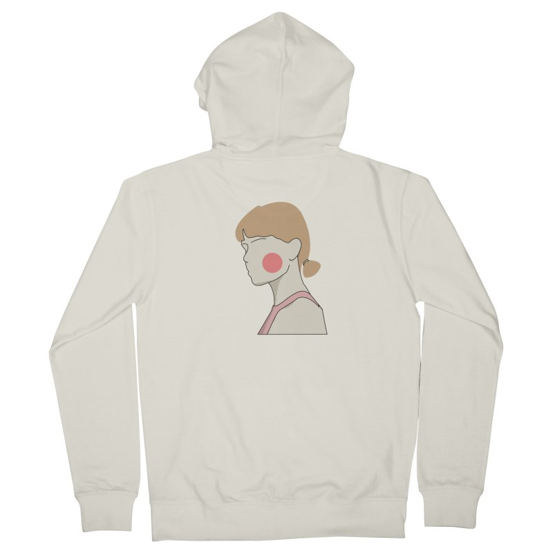 Lady Men's French Terry Zip-Up Hoody by theladyernestember's Artist Shop