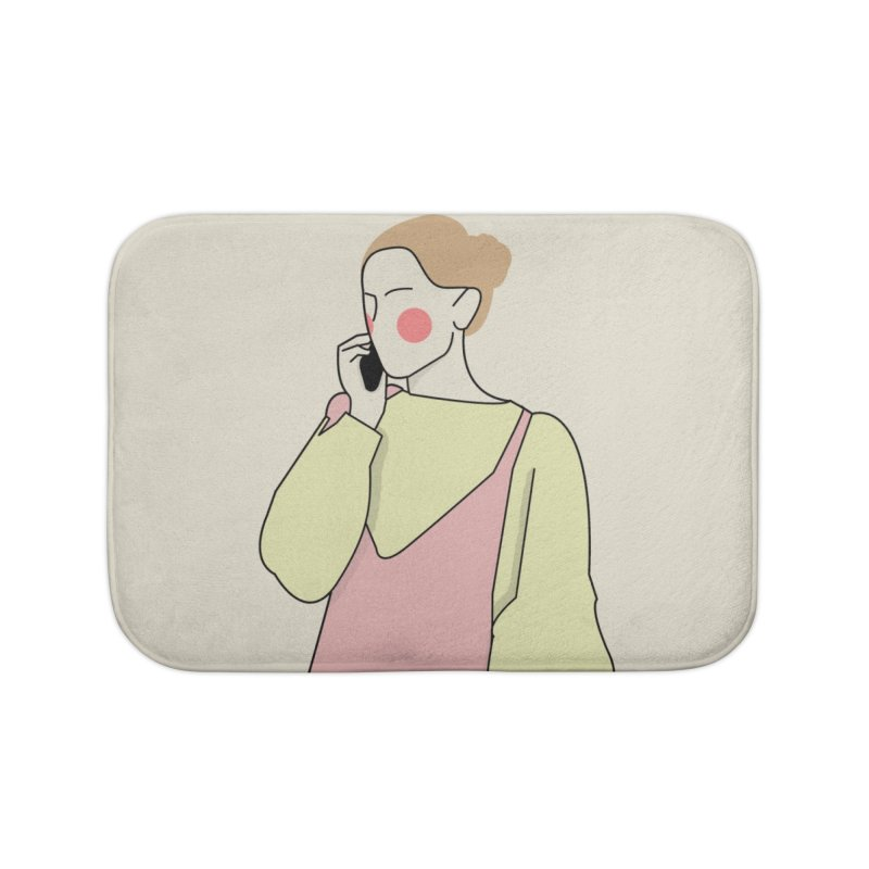 Lady Home Bath Mat by theladyernestember's Artist Shop