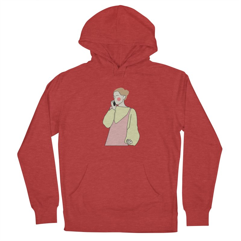 Lady Women's French Terry Pullover Hoody by theladyernestember's Artist Shop