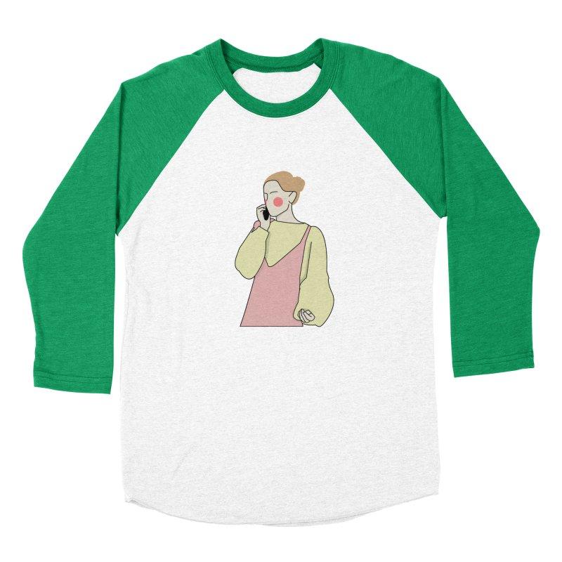 Lady Men's Baseball Triblend Longsleeve T-Shirt by theladyernestember's Artist Shop