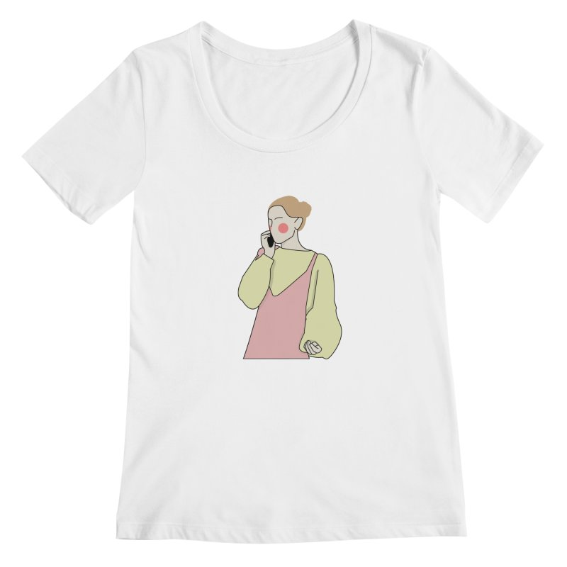 Lady Women's Regular Scoop Neck by theladyernestember's Artist Shop