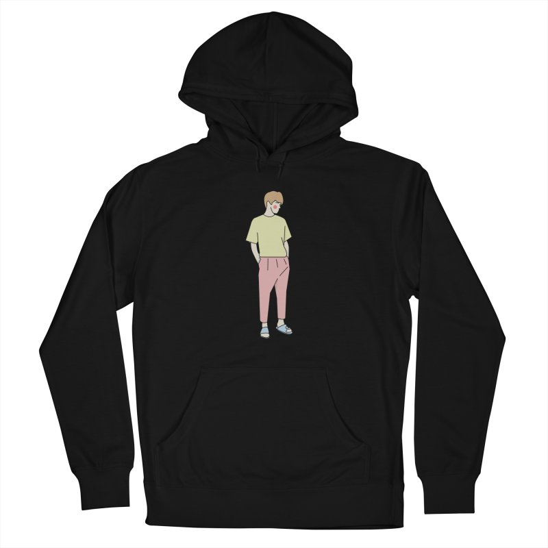 boy Women's French Terry Pullover Hoody by theladyernestember's Artist Shop