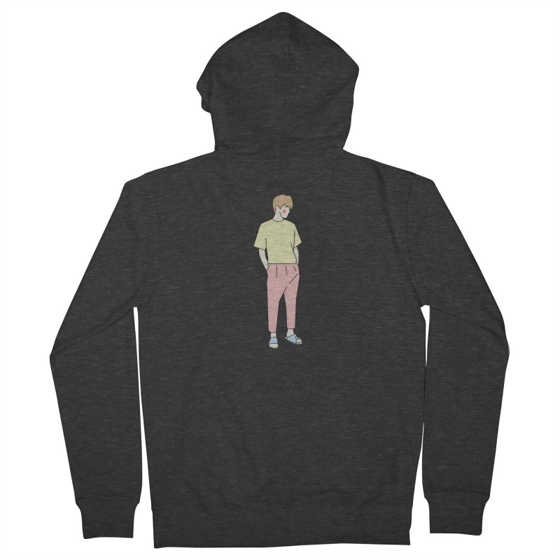boy Women's French Terry Zip-Up Hoody by theladyernestember's Artist Shop