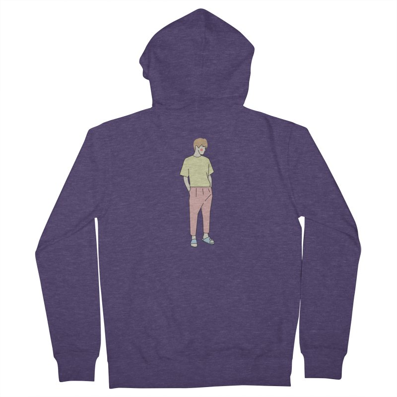 boy Men's French Terry Zip-Up Hoody by theladyernestember's Artist Shop