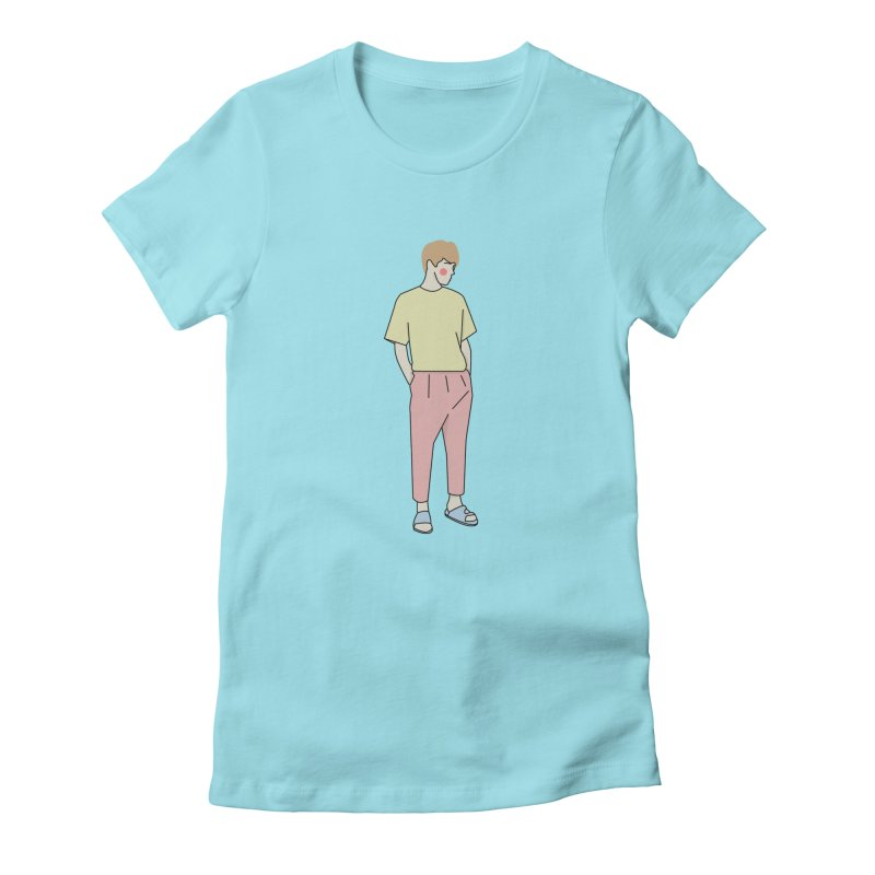 boy Women's Fitted T-Shirt by theladyernestember's Artist Shop