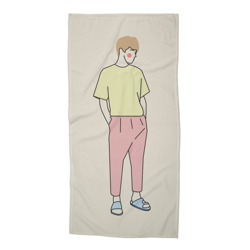 boy Accessories Beach Towel by theladyernestember's Artist Shop