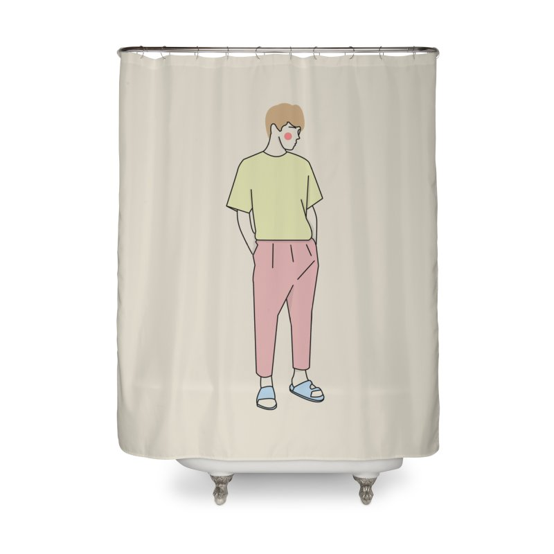 boy Home Shower Curtain by theladyernestember's Artist Shop