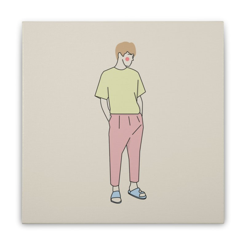 boy Home Stretched Canvas by theladyernestember's Artist Shop
