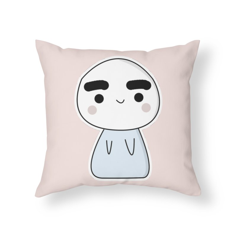 momo Home Throw Pillow by theladyernestember's Artist Shop