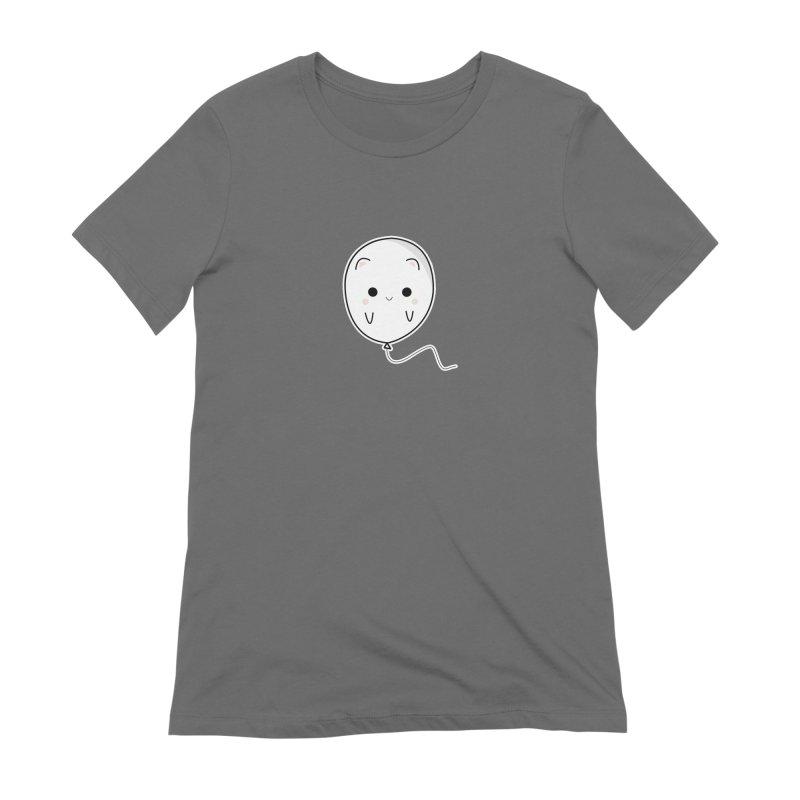 cat balloon Women's Extra Soft T-Shirt by theladyernestember's Artist Shop