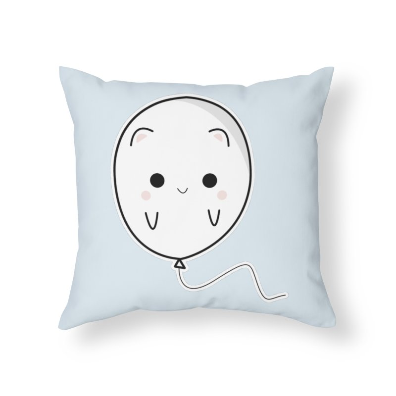 cat balloon Home Throw Pillow by theladyernestember's Artist Shop
