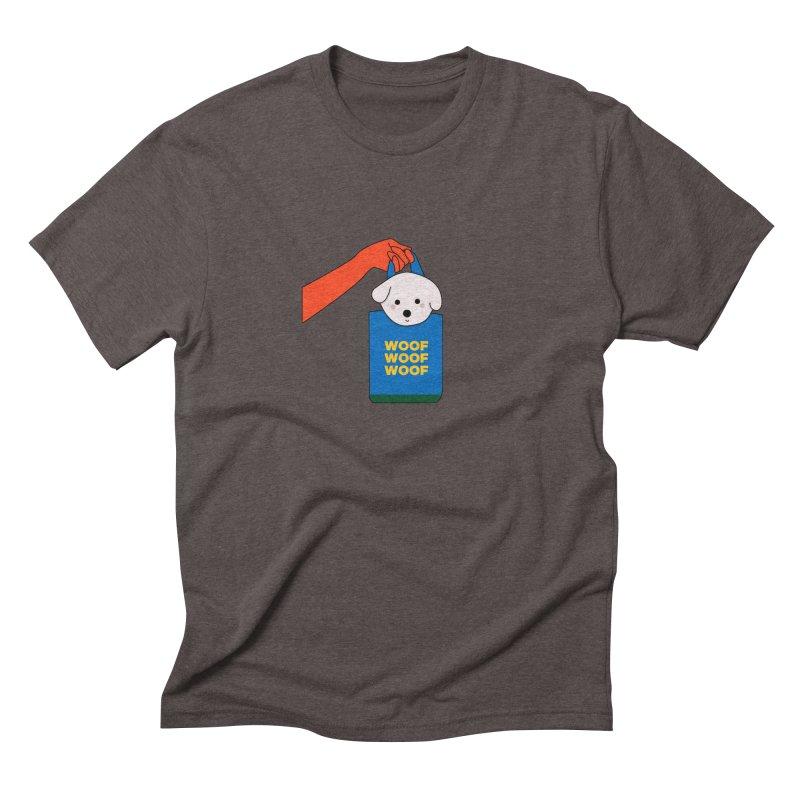 Puppy Men's Triblend T-Shirt by theladyernestember's Artist Shop