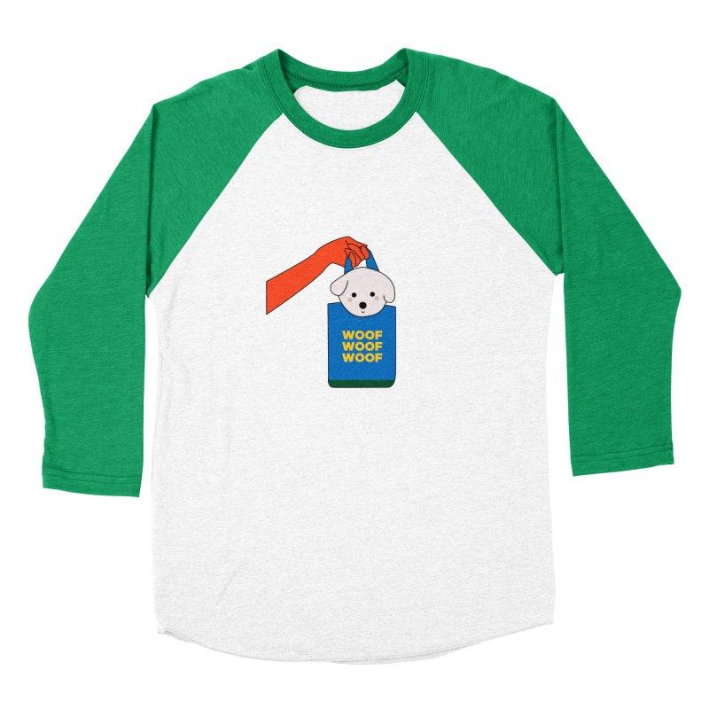 Puppy Men's Baseball Triblend Longsleeve T-Shirt by theladyernestember's Artist Shop