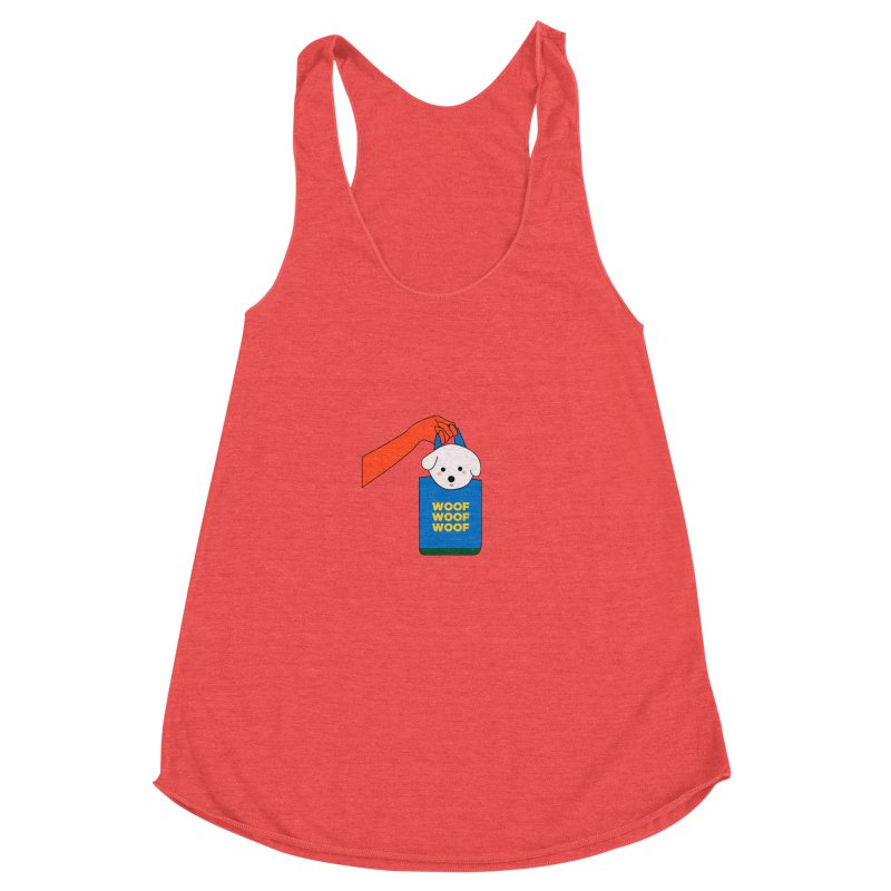 Puppy Women's Racerback Triblend Tank by theladyernestember's Artist Shop