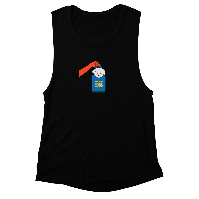 Puppy Women's Muscle Tank by theladyernestember's Artist Shop