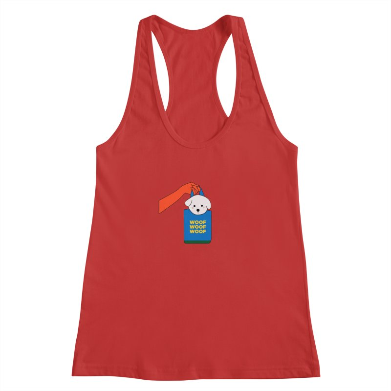 Puppy Women's Racerback Tank by theladyernestember's Artist Shop