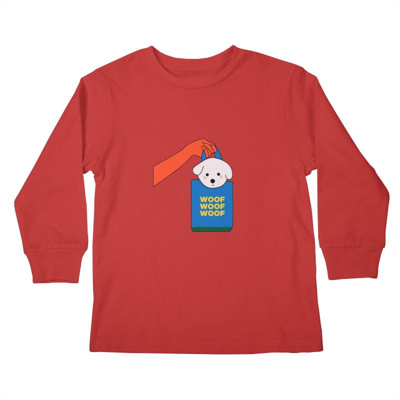 Puppy Kids Longsleeve T-Shirt by theladyernestember's Artist Shop