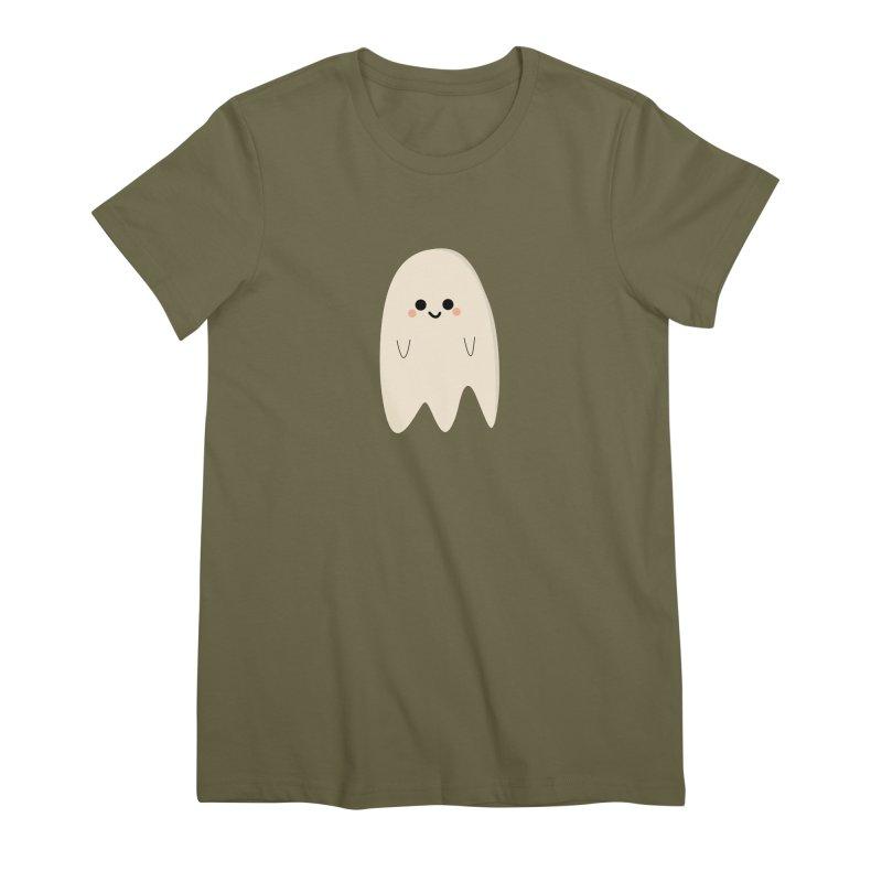 Boo Women's Premium T-Shirt by theladyernestember's Artist Shop