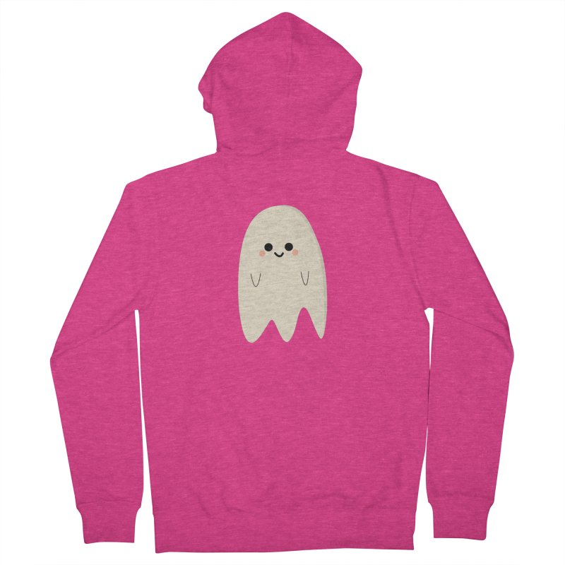 Boo Women's French Terry Zip-Up Hoody by theladyernestember's Artist Shop