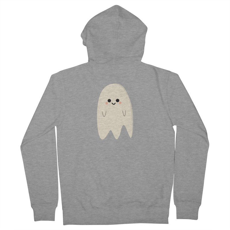 Boo Men's French Terry Zip-Up Hoody by theladyernestember's Artist Shop