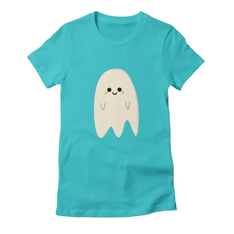 Boo Women's Fitted T-Shirt by theladyernestember's Artist Shop