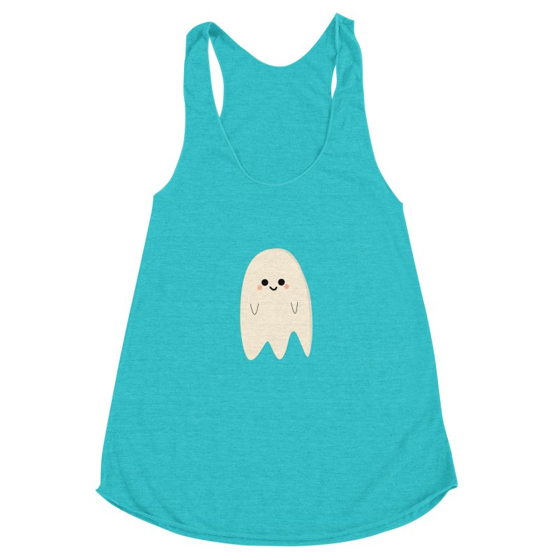 Boo Women's Racerback Triblend Tank by theladyernestember's Artist Shop