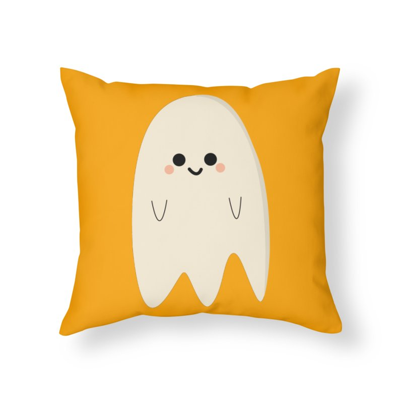 Boo Home Throw Pillow by theladyernestember's Artist Shop