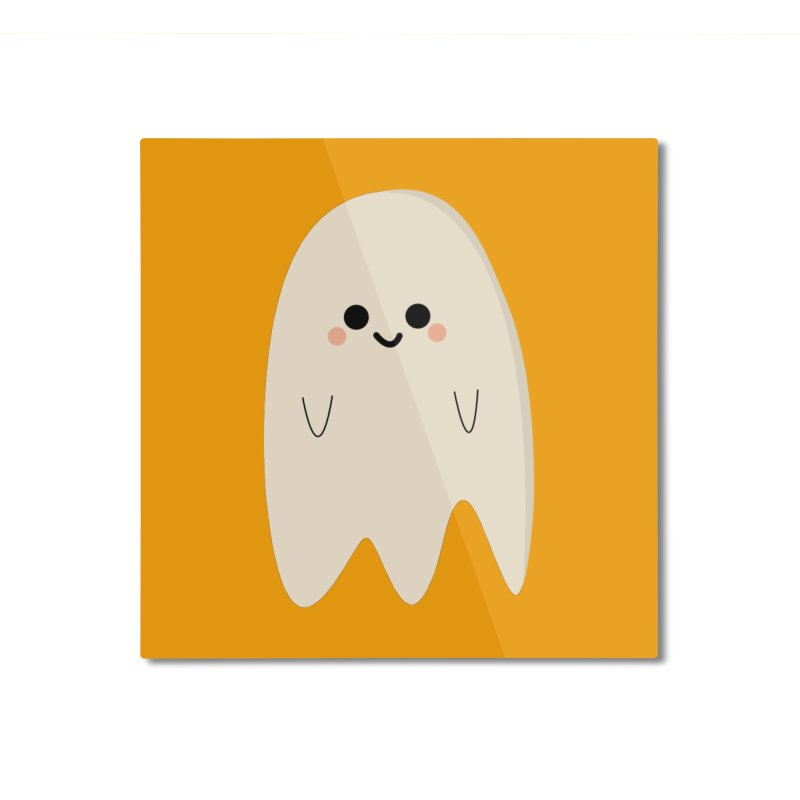 Boo Home Mounted Aluminum Print by theladyernestember's Artist Shop