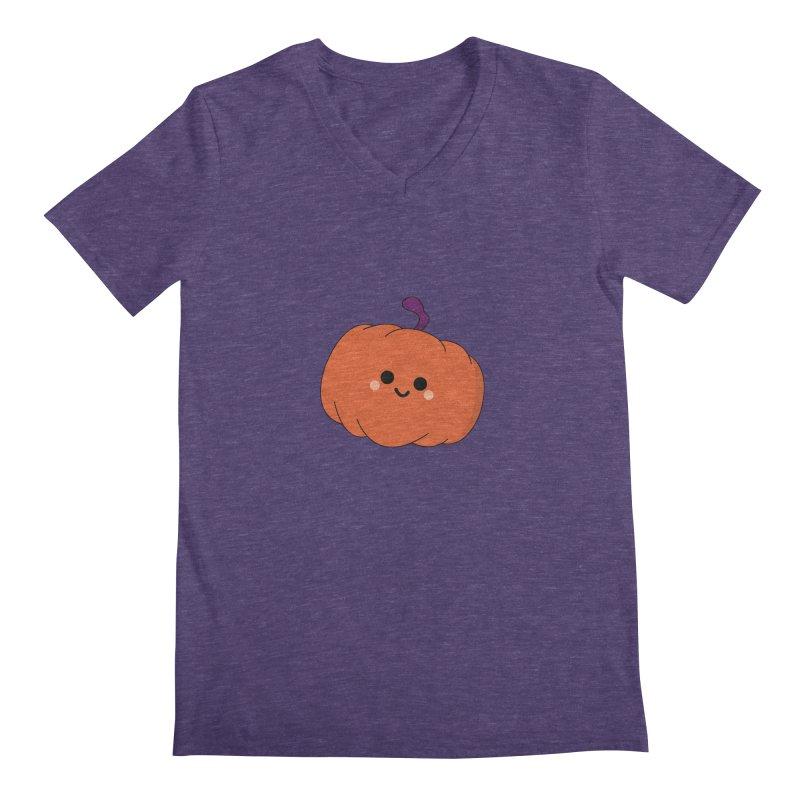 Pumpkin Men's Regular V-Neck by theladyernestember's Artist Shop