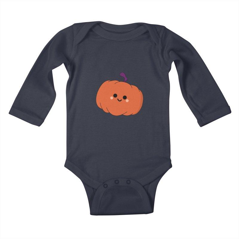 Pumpkin Kids Baby Longsleeve Bodysuit by theladyernestember's Artist Shop