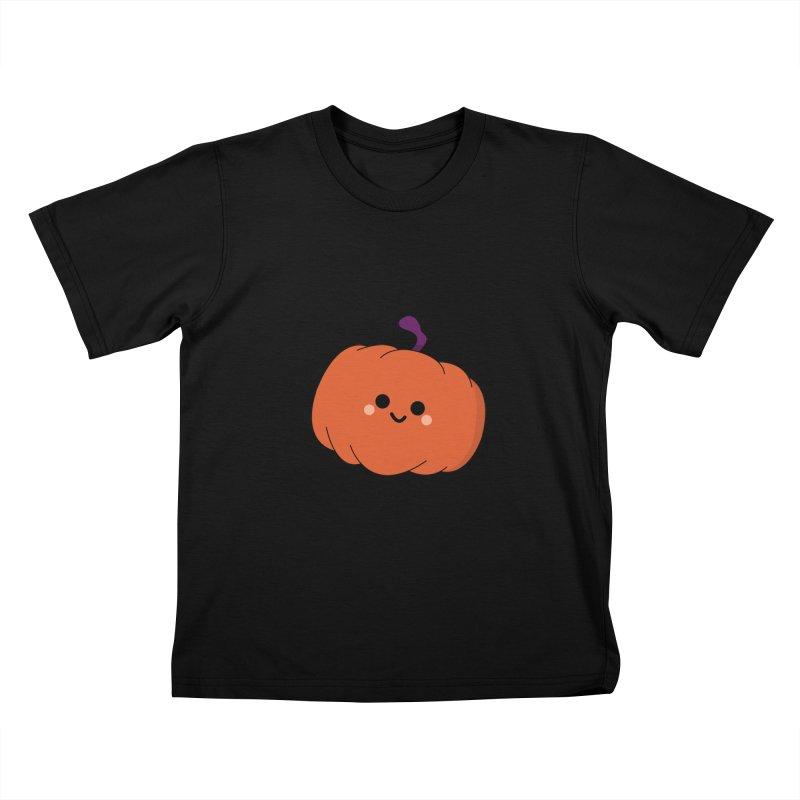 Pumpkin Kids T-Shirt by theladyernestember's Artist Shop
