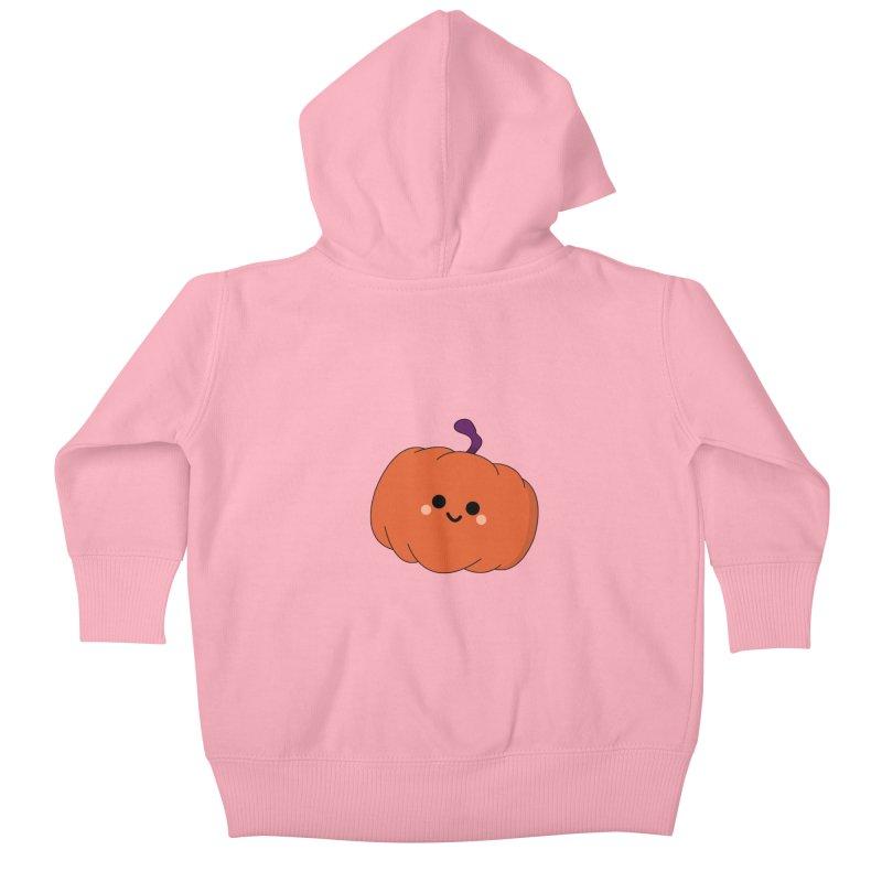Pumpkin Kids Baby Zip-Up Hoody by theladyernestember's Artist Shop