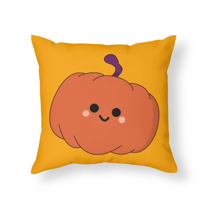 Pumpkin Home Throw Pillow by theladyernestember's Artist Shop