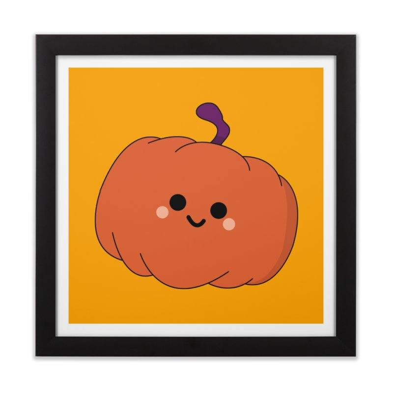 Pumpkin Home Framed Fine Art Print by theladyernestember's Artist Shop