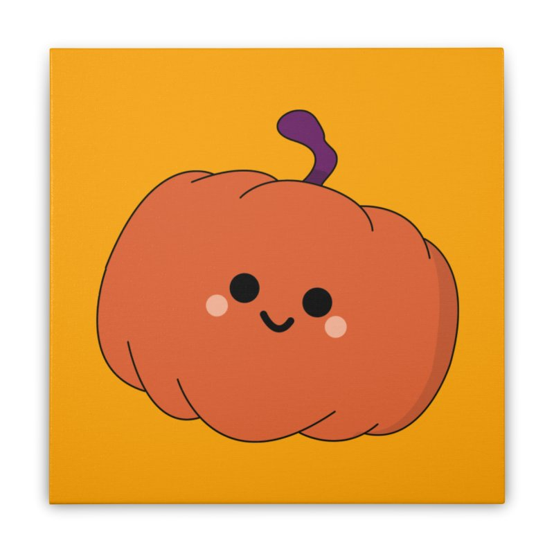 Pumpkin Home Stretched Canvas by theladyernestember's Artist Shop