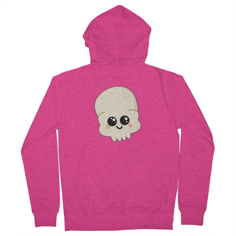 Skull Women's French Terry Zip-Up Hoody by theladyernestember's Artist Shop