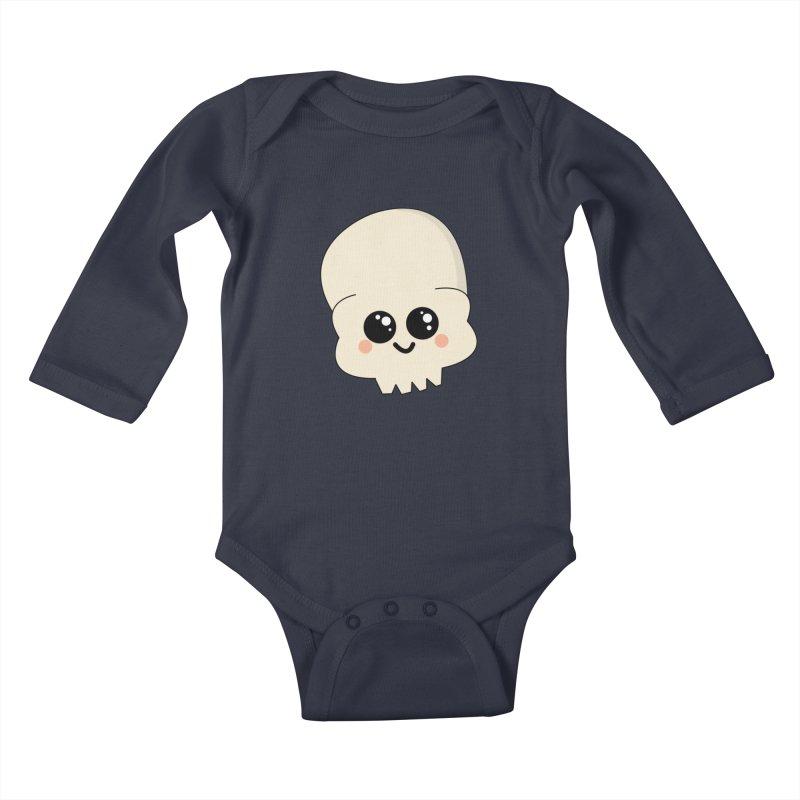 Skull Kids Baby Longsleeve Bodysuit by theladyernestember's Artist Shop