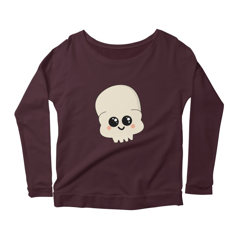Skull Women's Scoop Neck Longsleeve T-Shirt by theladyernestember's Artist Shop