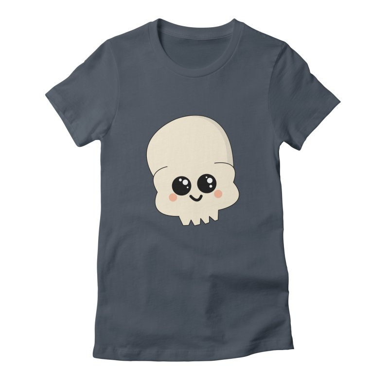 Skull Women's Fitted T-Shirt by theladyernestember's Artist Shop